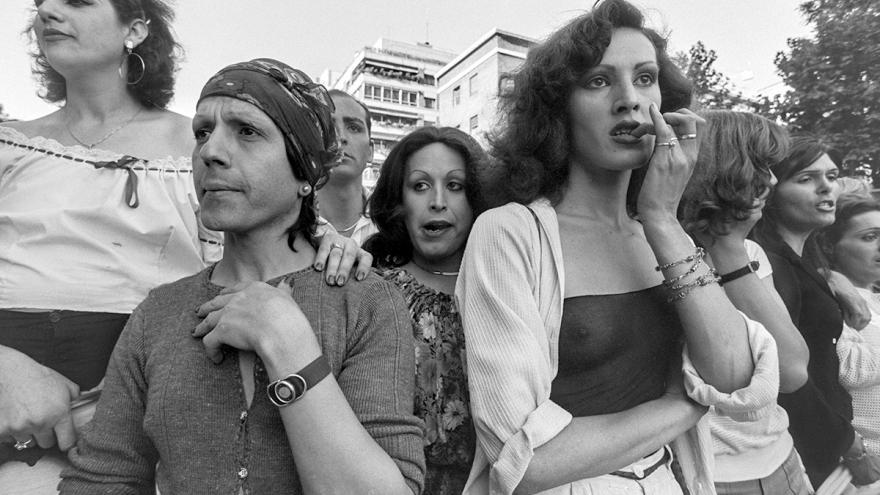 Manifestantes LGTBI en el día del Orgullo Gay