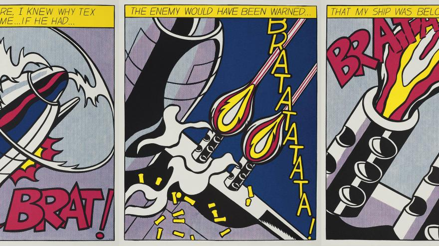 Roy Lichtenstein, As I opened fire, Suite de 3 litografía