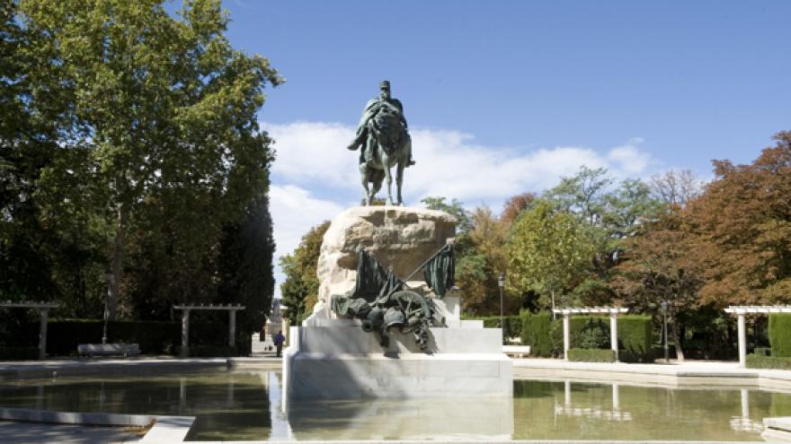 Monumento al General Martínez Campos en el Parque de El Retiro