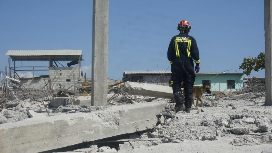Intervención del ERICAM en el terremoto de Ecuador en 2016