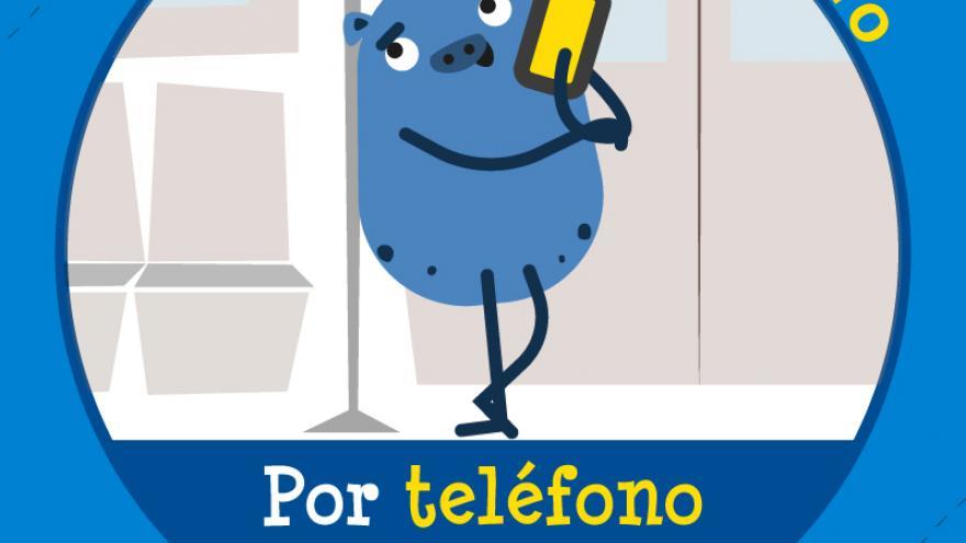 Campaña cívica en Metro. Teléfono