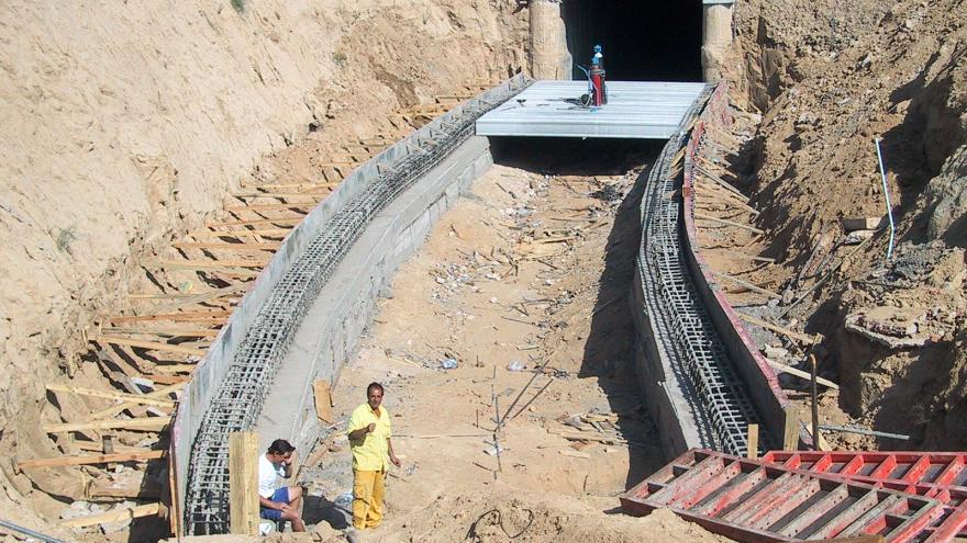 Túnel de conexión entre las cocheras y Línea 10