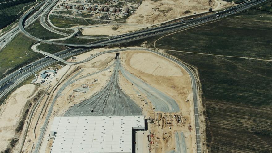 Vista aérea Cocheras Línea 10