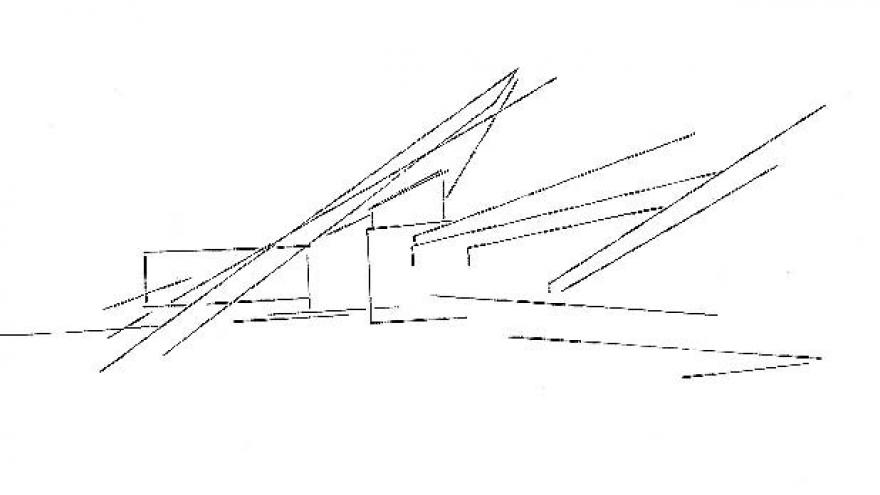 Boceto inicial de la estación de El Pozo