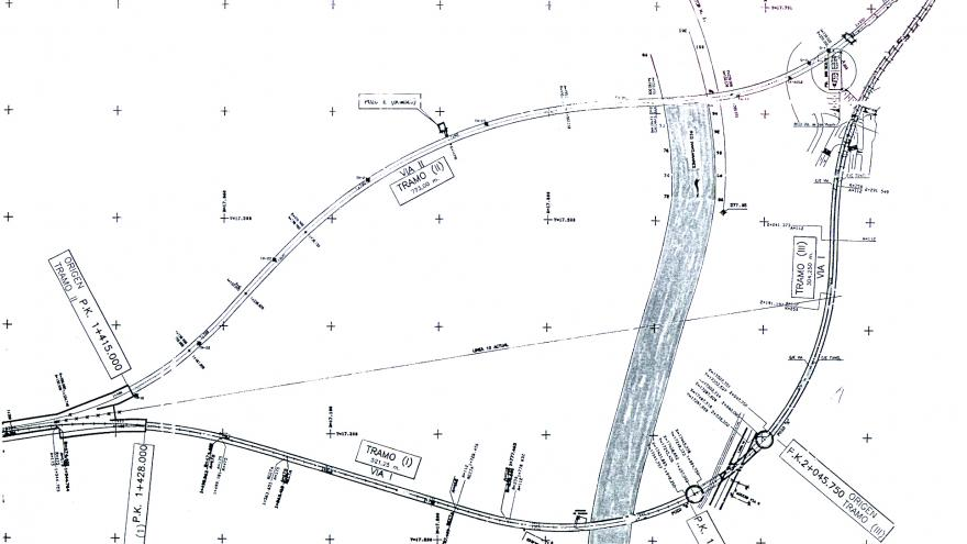 Esquema general de las obras acometidas en la variante de la Línea 10,. Príncipe Pío-Lago