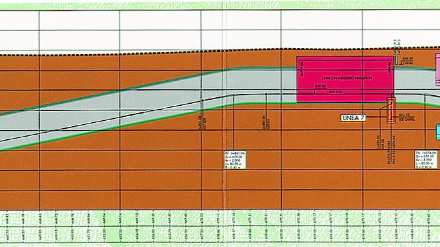 Perfil geológico del terreno