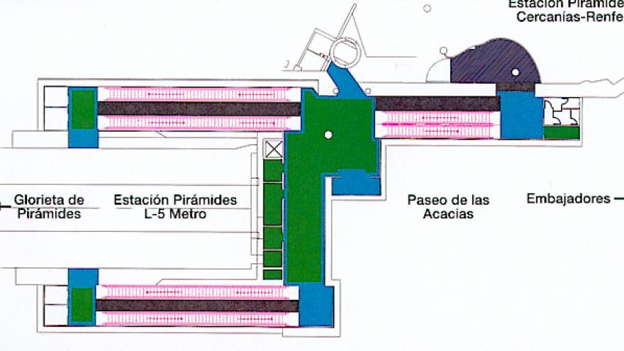 Planta general cañones comunicación Pirámides