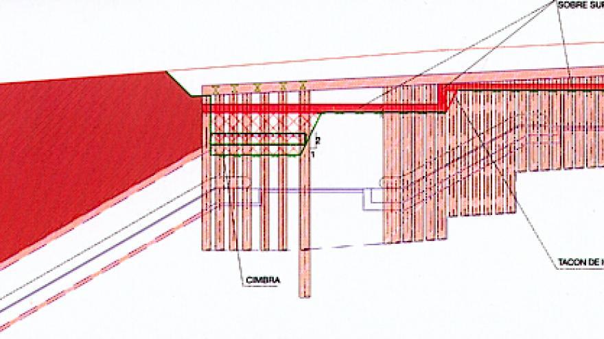 Hormigonado de losas de cubrición. Cañones comunicación Pirámides