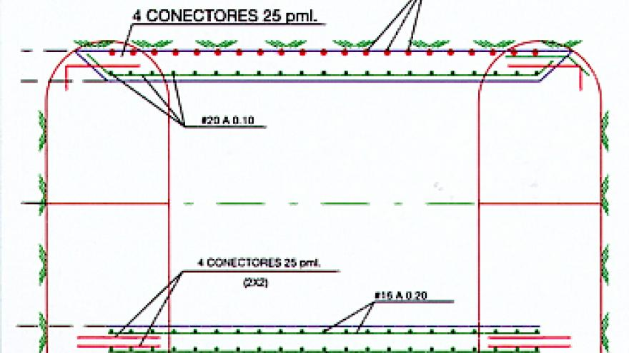 Sección de cajón transversal