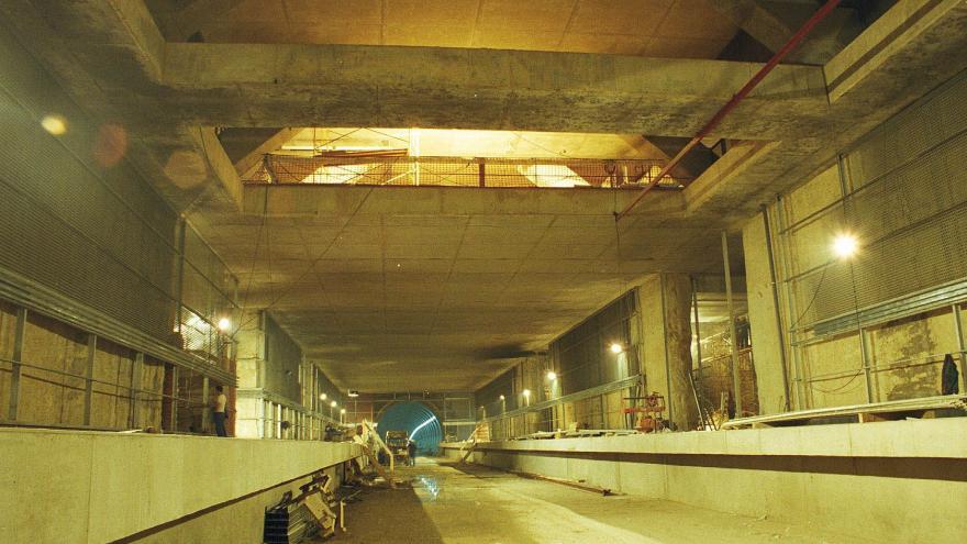 Construcción andenes estación Lacoma