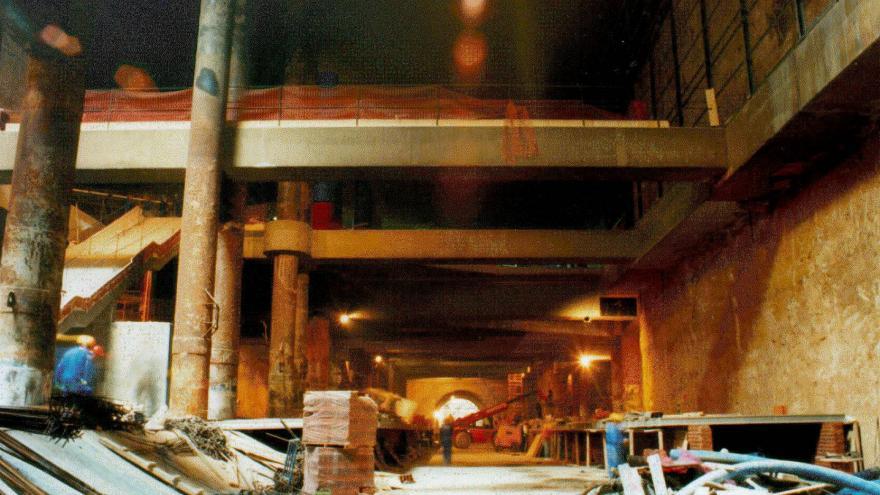 Estación Mar de Cristal durante las obras