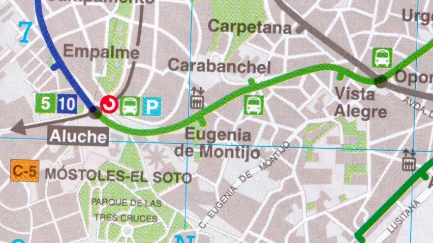 Situación de la estación Eugenia de Montijo