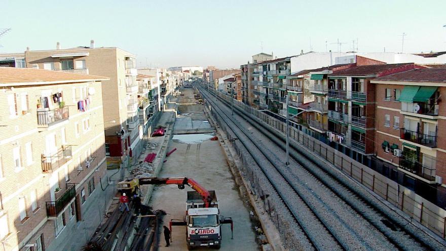 Soterramiento línea Renfe en Getafe