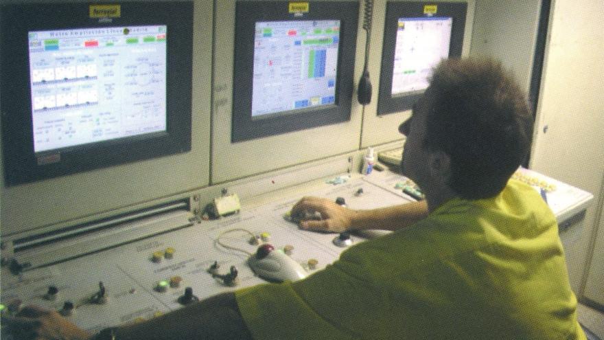 Panel de control de la tuneladora