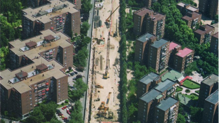 Vista aérea de la estación El Capricho