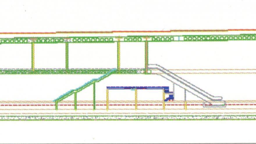 Perfil longitudinal estación Alameda de Osuna