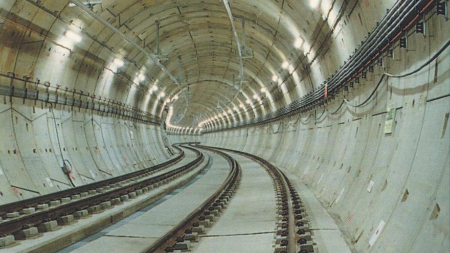 Túnel ejecutado con tuneladora