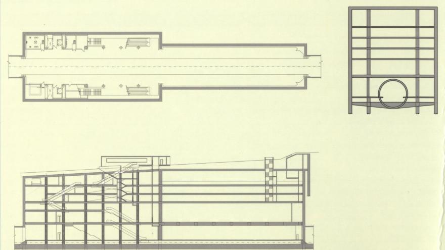 Planta y alzado estación Avda. de la Ilustración