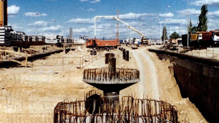 Columnas y ábacos de Campo de las Naciones