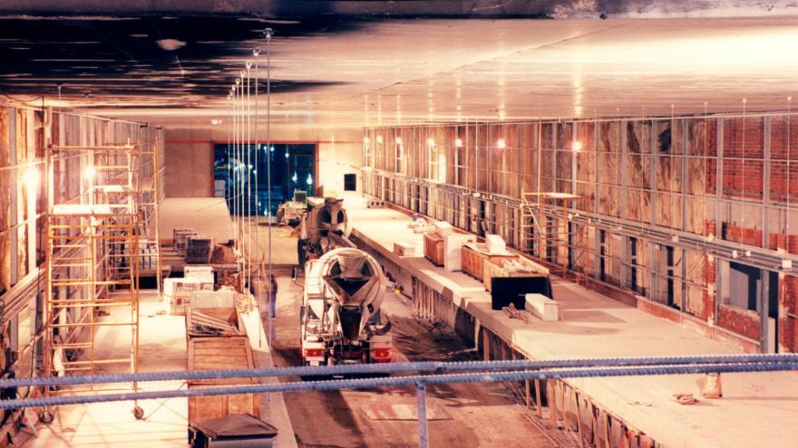 Estación Mar de Cristal en obras