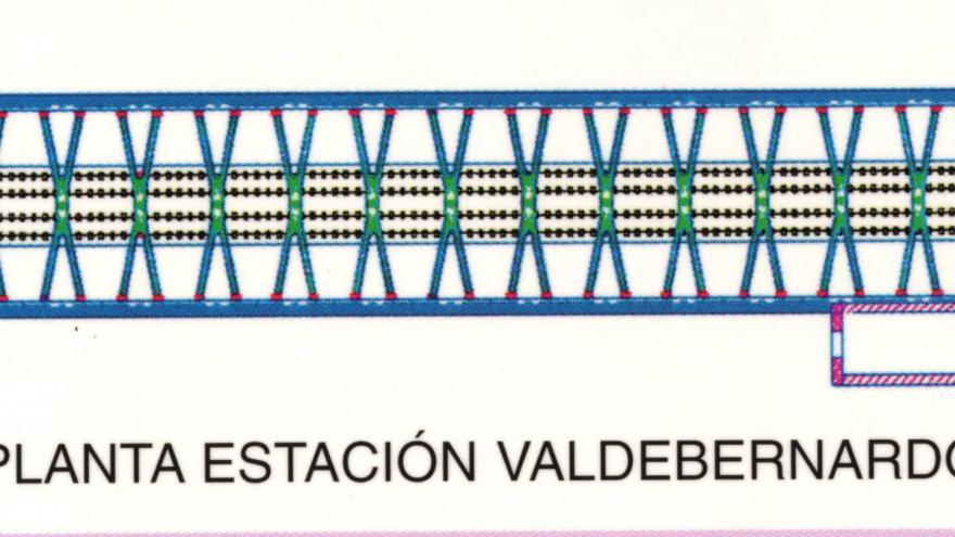 Planta estación Valdebernardo