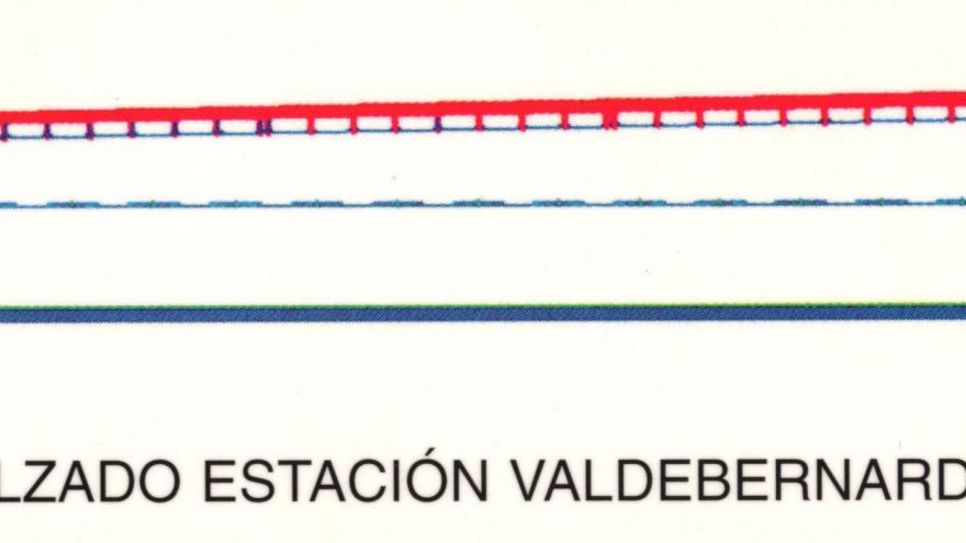 Alzado estación Valdebernardo