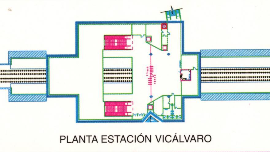 Planta estación Vicálvaro