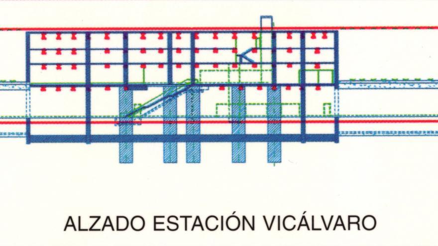 Alzado estación Vicálvaro