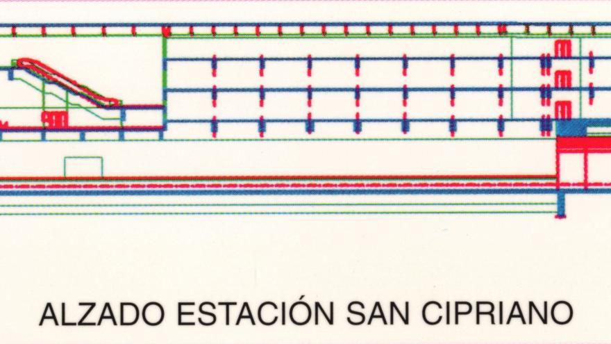 Alzado estación San Cipriano