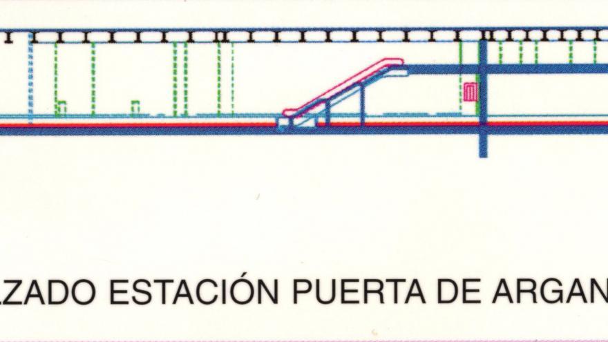 Alzado estación Puerta de Arganda