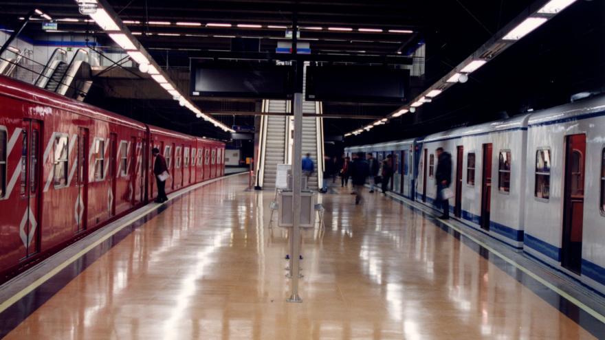 Andenes estación Puerta de Arganda