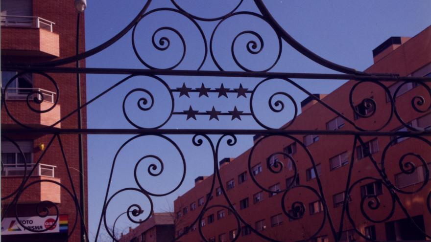Detalle marquesina estación Valdebernardo