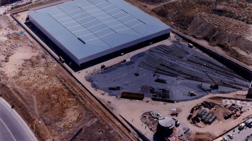 Vista aérea cocheras Laguna 24/08/1994