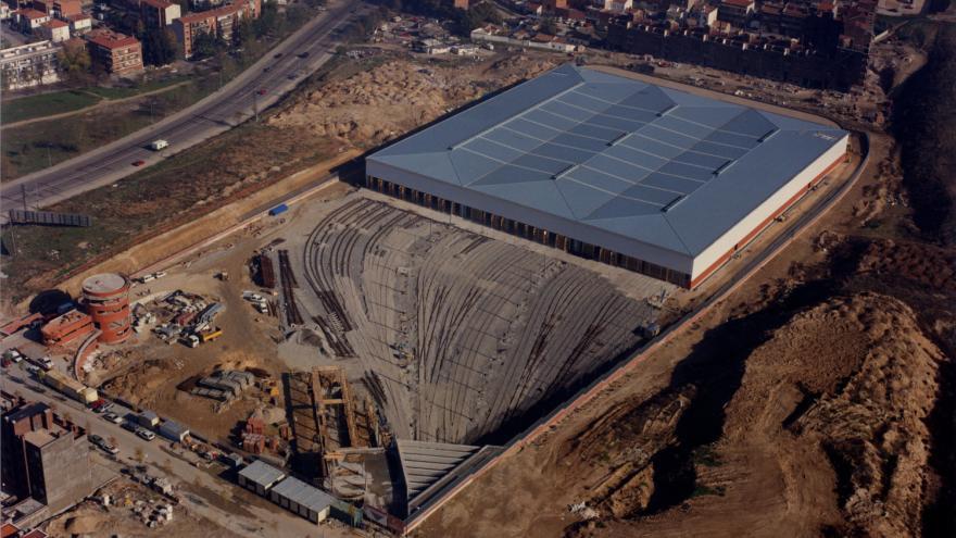 Vista aérea cocheras Laguna 21/11/1994