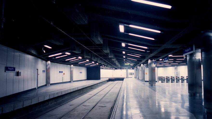 Andén de la estación de Príncipe Pío del Ramal Ópera-Norte
