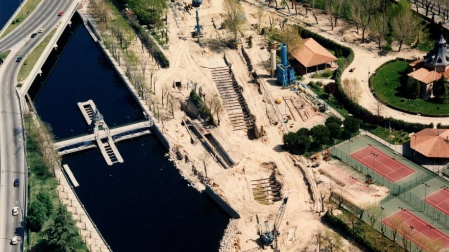 Cruce bajo el río Manzanares 18/04/1992