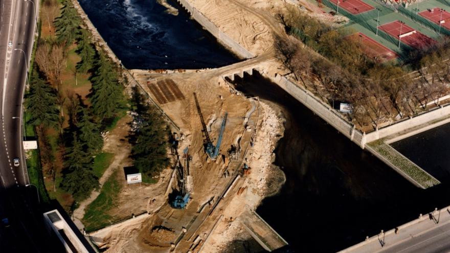 Cruce bajo el río Manzanares 13/12/1992