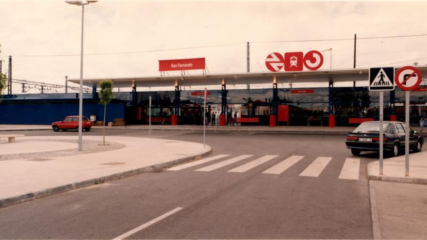Exterior de la estación de San Fernando