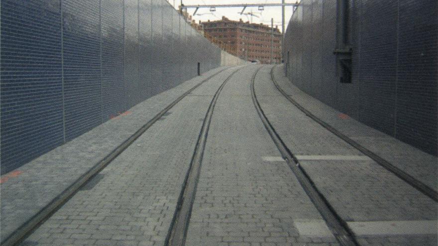 Estado definitivo de la zona de transición superficie-túnel en la c/Príncipe Carlos
