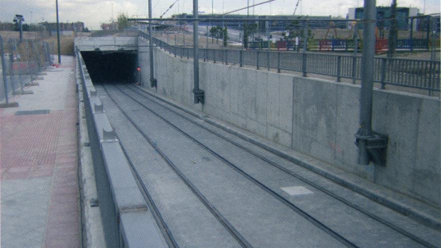 Estado definitivo de la zona de transición superficie-túnel en la c/Palas de Rey