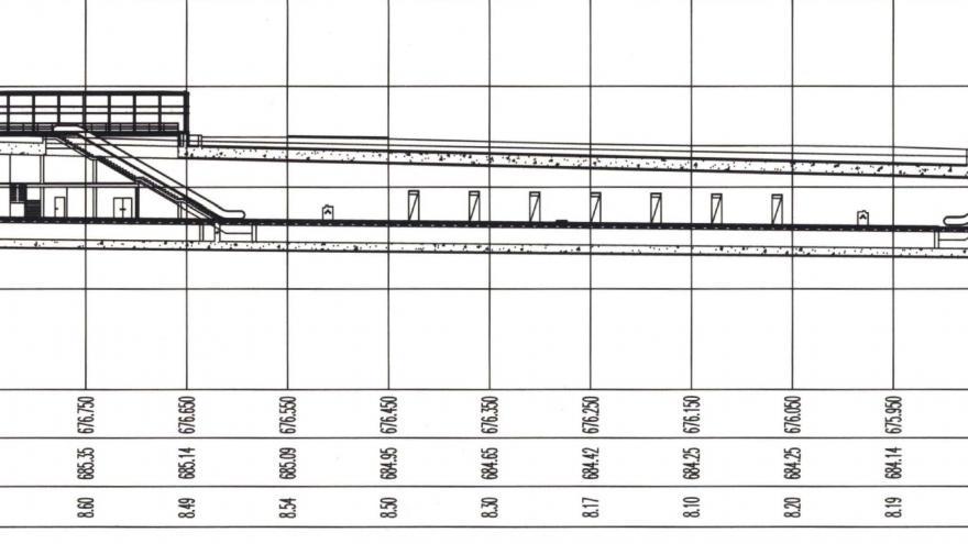 Perfil longitudinal estación María Tudor
