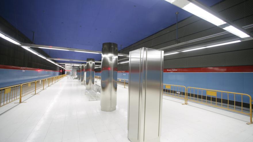 Andenes estación Blasco Ibáñez