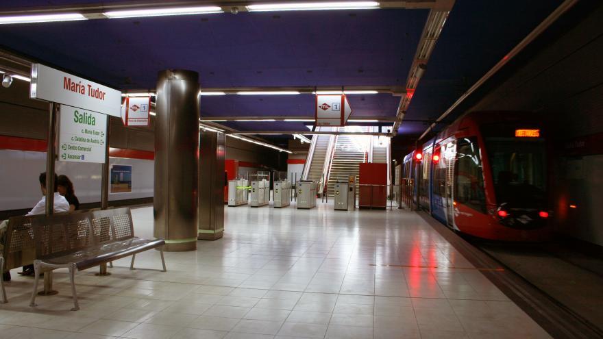 Andén estación María Tudor
