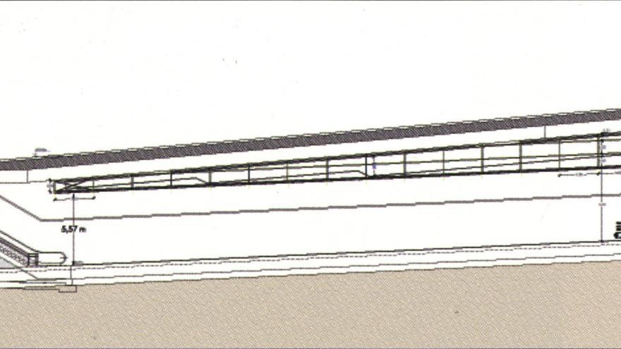 Sección longitudinal. Estación Somosaguas Sur