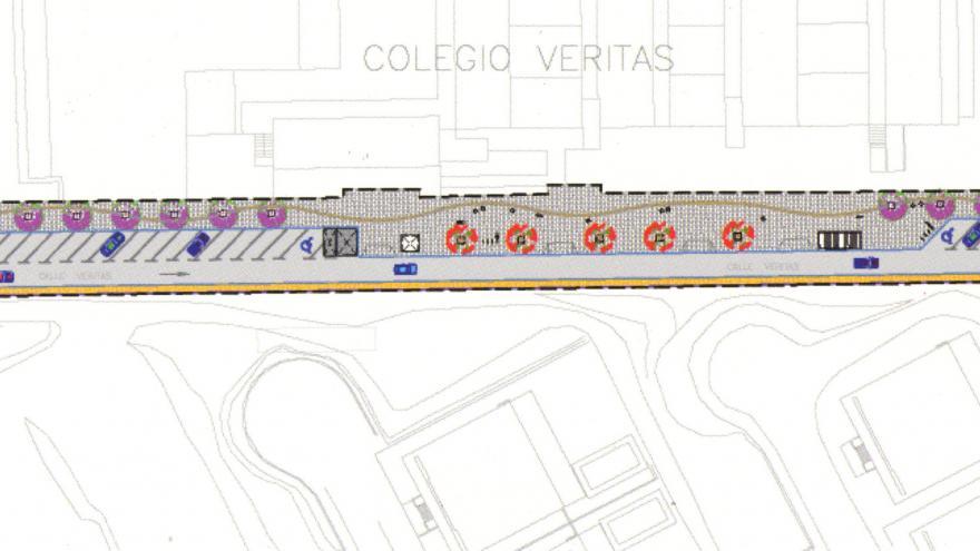 Urbanización de la calle Veritas
