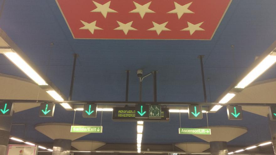 Interior de una estación de Metro