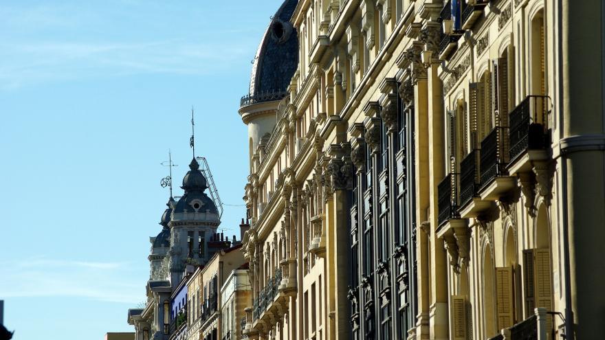 Fachadas centro de Madrid