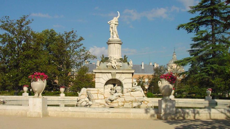 Imagen de fuente en los jardines de Aranjuez