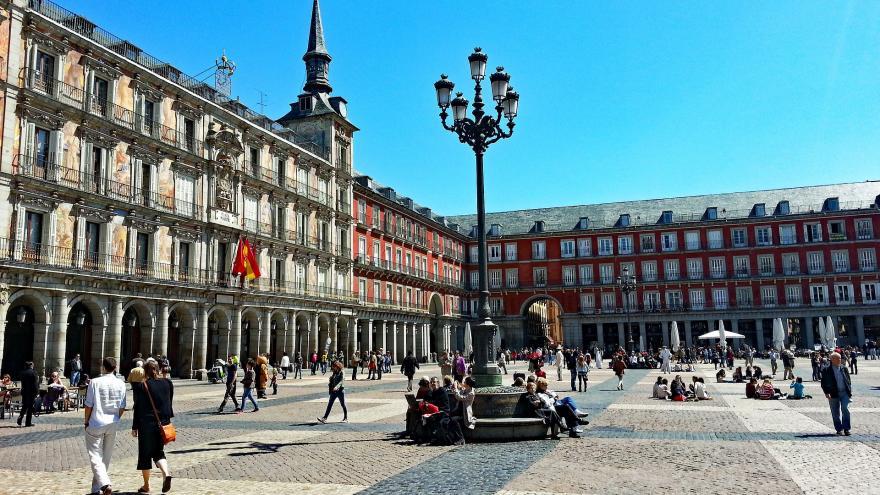 Primavera.Plaza Mayor