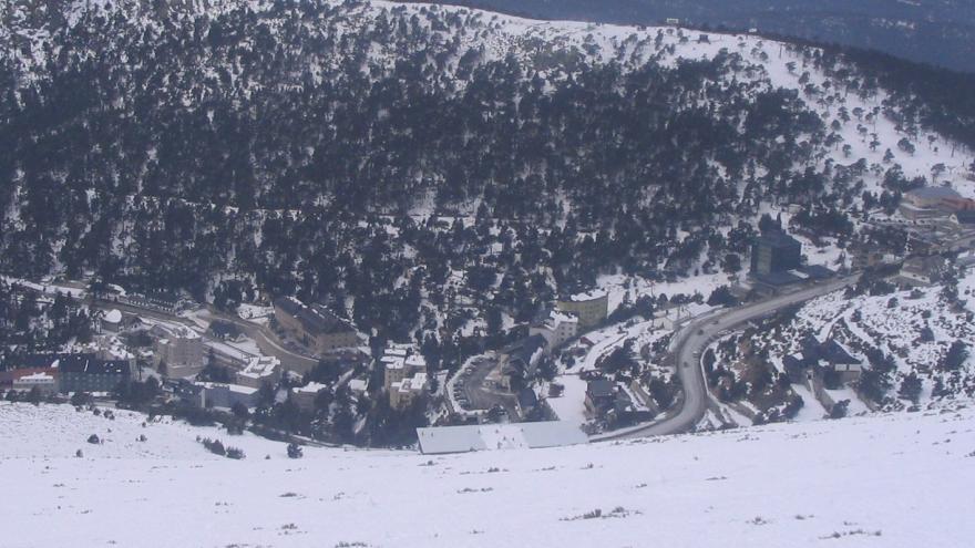 Port of Navacerrada in winter